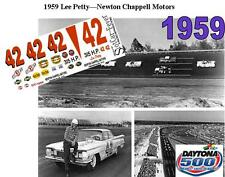 CD_DC-1959 #42 Lee Petty  Oldsmobile NASCAR   1:24 Scale DECALS