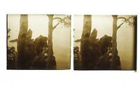 Francia snapshot Amateur Foto Stereo L7n25 Vintage Placca Da Lente