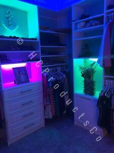 Bluetooth Controlled Closet, Cabinet, Storage, Accent, Garage Kitchen LED Lights