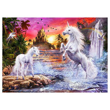 DIY 5D Diamond Painting Two Horse Embroidery Cross Stitch Craft Home Decor