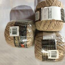 3 x Milford Cotton 4 PLY 50g BROWN #0707 Dye Lot 92857
