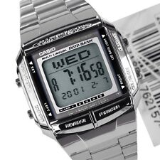 Casio Mens Watch LCD Digital Stainless Steel Data Bank  DB-360-1A. TIOV