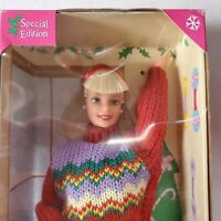 Barbie Special Edition 1998 Tree Trimming Christmas Barbie Sweater Doll Mattel