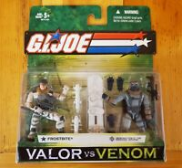 GI JOE Valor Vs Venom 2 Pack! FROSTBITE/SNOW WOLF! Foreign Variant! NIP!