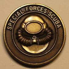 Special Forces Scuba Combat Diver Green Berets Early Version Army Challenge Coin