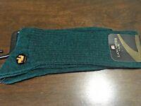 Lancaster Alpaca socks Men's green Everyday Dress  Ribbed , Size L - dozen