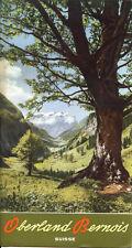 Prospectus-Tourisme : OBERLAND BERNOIS, Suisse. Travel Ephemera, 1939