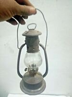 Vintage Rare Old Unique  Baby  Oil Lamp / lalten  and Light  clear Glass toppe