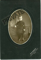 Antique Matted Photo-Chicago, Illinois-Little Boy, Knickers, Staff (Raymond) 3 Y