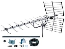 SLx 64 Element High Gain UHF Digital Aerial Kit Inc Cable and Built in 4G Filter