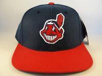 Cleveland Indians MLB Vintage Chief Wahoo Snapback Hat Cap American Needle