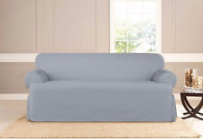 Sure Fit slipcover SOFA size t-cushion Essential Twill Supreme pacific blue
