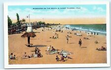 *Midwinter on the beach sunny Florida Poem William Franklin Atwood Postcard B76