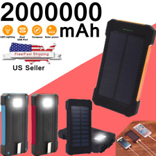 2000000mAh Portable Solar Power Bank 2 USB LED Charger For Cell Phone 2020 New