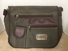 Lacoste messenger Bag Green & Brown Canvas Bag preowned
