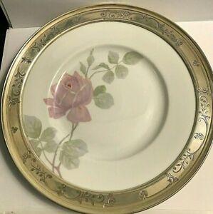 "Antique  Rosenthal Rose 9"" Shreve Sterling Silver Boarder Serving Cake Plate"