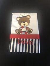 Sailor Bear Baby Burp Cloth