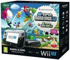 Nintendo Wii u Mario & Luigi Premium Pack 32GB Black Boxed + Game