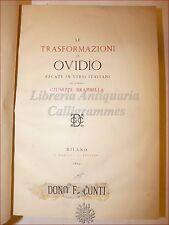 BRAMBILLA, Giuseppe: LE TRASFORMAZIONI di OVIDIO 1863 Daelli, 1 di 500 esemplari