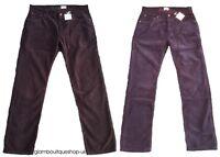 BODEN MEN'S CORD JEANS CHOCOLATE/NAVY/BROWN COTTON STRIGHT LEG TROUSER 30/44 R/L