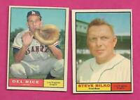 1961 TOPPS LOS ANGELES ANGELS  NRMT CARD LOT  (INV# C7095)