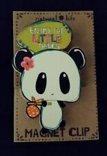 "Natural Life Panda Bear ""Enjoy the Little Things"" Magnet Clip"