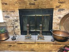Vintage Fireplace Andirons- Cast Iron