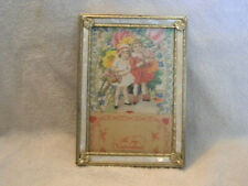 Vintage 3D Layered Valentine Card Germany RARE....With Mother of Pearl Frame