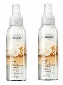 2 X Avon Naturals Scented Spritz Cosy Vanilla & Sandalwood home/linen/body