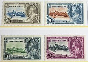 British Guiana – 1935 Silver Jubilee – Lightly Mounted Mint   (R5-E)