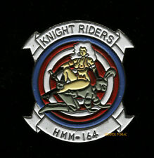 HMM-164 KNIGHTRIDERS HAT LAPEL PIN UP US MARINES CH-46 NOSE ART KNIGHT GIFT WOW