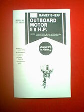 SEARS GAMEFISHER 9.9 HP OUTBOARD MOTOR MODEL # 217586250 OWNER'S / PARTS MANUAL