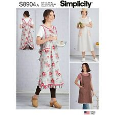 Simplicity Sewing Pattern 8904 Misses Sz 6-24 Wraparound Aprons 2 Lengths
