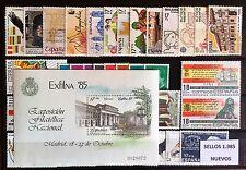 SELLOS ESPAÑA 1985** COMPLETO, NUEVOS  CON HOJA BLOQUE