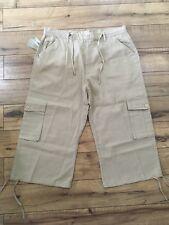 New Men's Jordan Craig Solid Khaki Cargo Shorts Size 36 Brand New!