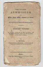 Montal – Kurz Anweisung Piano Forte selbst stimmen 1835