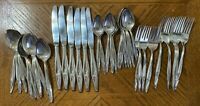 Reed & Barton NOSTALGIA Silverplate Forks Knives Spoons Teaspoons Lot of 47