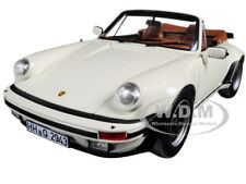 1987 PORSCHE 911 TURBO CABRIOLET IVORY 1/18 DIECAST MODEL CAR BY NOREV 187661