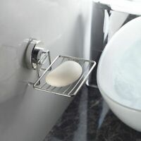Wall Holder Tray Vacuum Cup Suction Bathroom Rack Saver Soap Dish Shower Holder