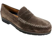 Rockport Men's Classicmove Penny Loafer Brown Suede Size 10.5 M