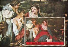 Ajman 1972 Madonna del Coniglio Quadro dipinto Tiziano Vecellio Sheet Perf. CTO