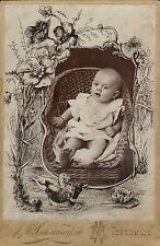 superb russian victorian baby photograph (cabinet type ) ornate !