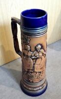 GERZ 3 L Bierkrug Keramik Krug Motivkrug Relief Sammlerkrug GERZIT