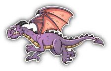 "Dragon Cartoon Angry Car Bumper Sticker Decal 5"" x 3"""