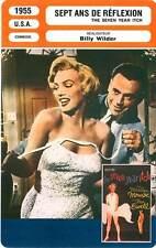 FICHE CINEMA : SEPT ANS DE REFLEXION - Monroe,Wilder 1955 The Seven Year Itch