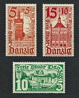 DR Danzig Rare WW2 Stamps 1935 Castles Tower Church Classic Full Set Gdansk Land