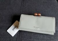 NWT TED BAKER Felicee Bobble Grey Patent Leather Matinee Purse Clutch Wallet