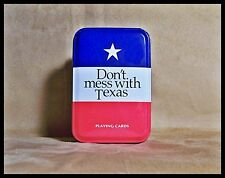 Playing Cards Don't Mess with Texas New Sealed with Metal Tin Bridge Size Game