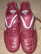 Men's Nike Cleats TIEMPO MYSTIC III FG 9 Burgundy