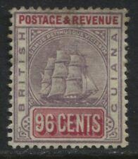 British Guiana 1889 96 cents Schooner lilac & carmine  mint o.g.